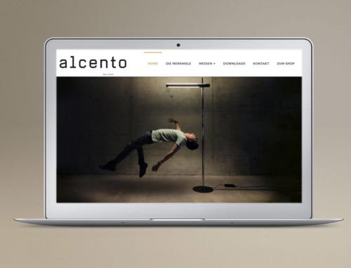 Referenzwebseite Alcento